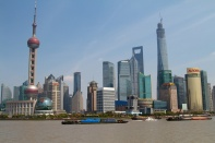 The view of the new Shanghai from the bund